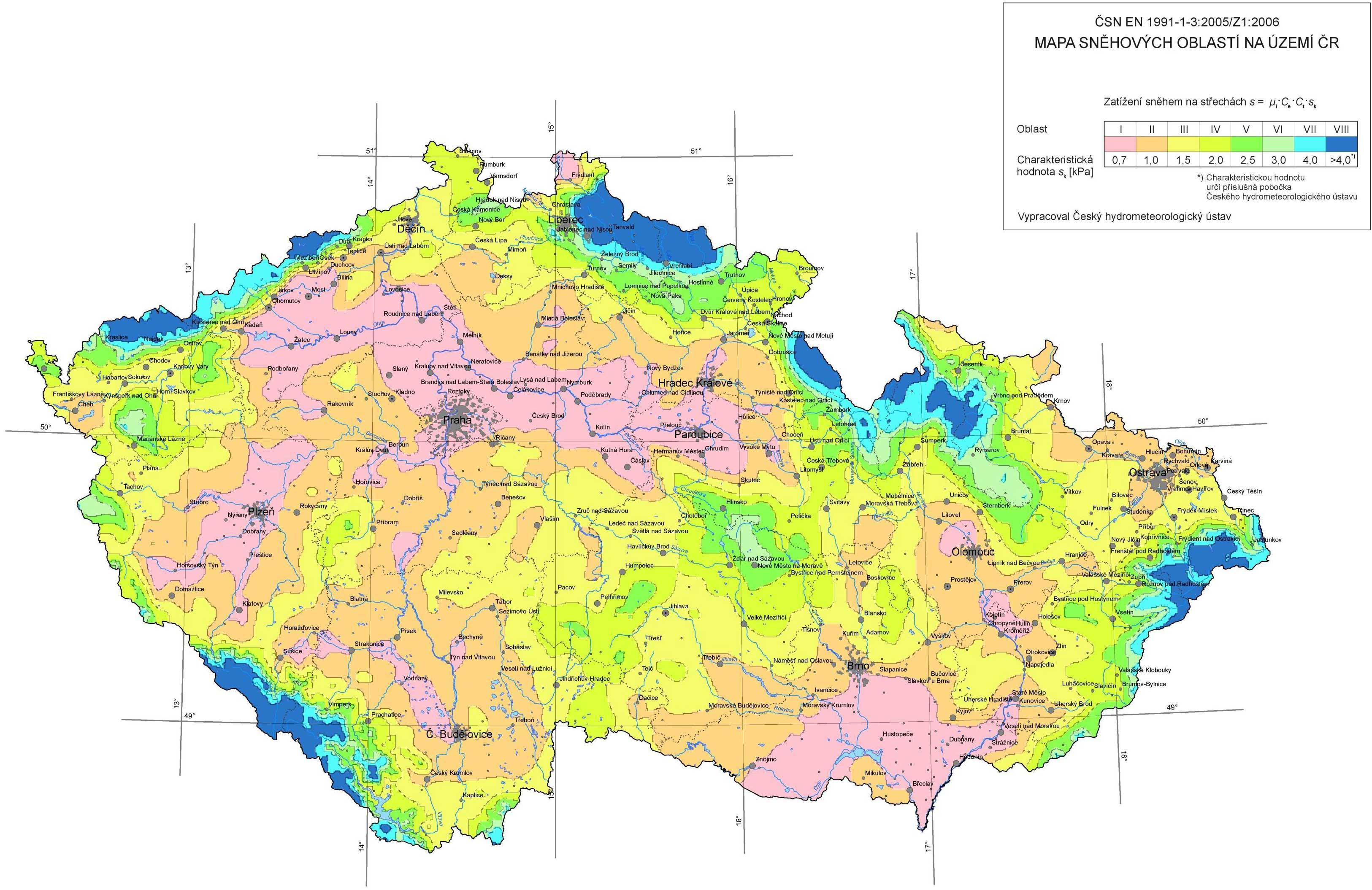 Vetrna A Snehova Mapa Pokryti V Cr